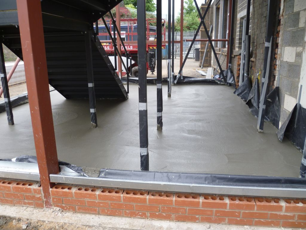 concrete pad for stairwell