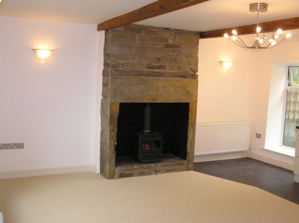 traditional solid fuel fireplace