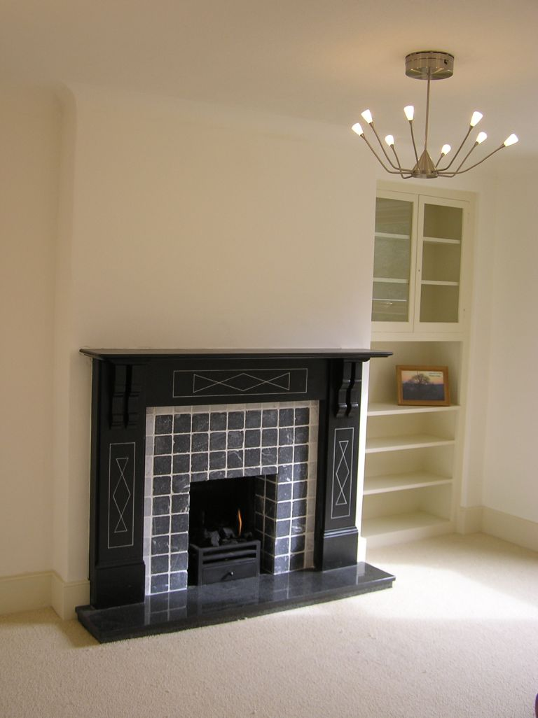 renovated traditional fireplace